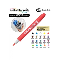 BRUSH PEN ARTLINE DECORITE RED 3R