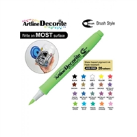 BRUSH PEN ARTLINE DECORITE YELLOW GREEN 3VC