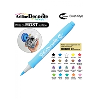 BRUSH PEN ARTLINE DECORITE PASTEL BLUE 3C