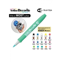 BRUSH PEN ARTLINE DECORITE PASTEL GREEN 3V