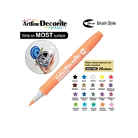 BRUSH PEN ARTLINE DECORITE ORANGE 3NA
