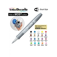 BRUSH PEN ARTLINE DECORITE SILVER 3P