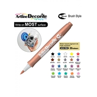 BRUSH PEN ARTLINE DECORITE METALLIC BRONZE 3BR