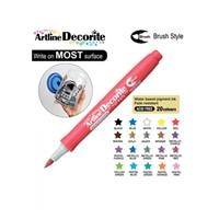 BRUSH PEN ARTLINE DECORITE METALLIC RED 3RM