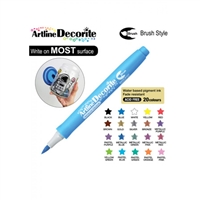 BRUSH PEN ARTLINE DECORITE METALLIC BLUE 3AA