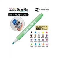 BRUSH PEN ARTLINE DECORITE METALLIC GREEN 3VM