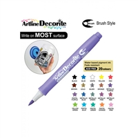 BRUSH PEN ARTLINE DECORITE METALLIC PURPLE 3MM