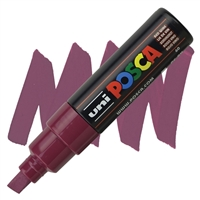 MARKER POSCA PC-8K BROAD CHISEL TIP RED WINE PX107532000