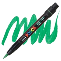 MARKER POSCA PCF-350 BRUSH TIP GREEN PX146621000