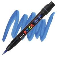 MARKER POSCA PCF-350 BRUSH TIP BLUE PX146670000