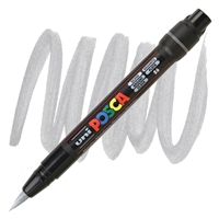 MARKER POSCA PCF-350 BRUSH TIP SILVER PX146696000