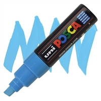 MARKER POSCA PC-8K BROAD CHISEL TIP LIGHT BLUE PX148858000