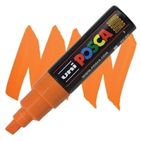 MARKER POSCA PC-8K BROAD CHISEL TIP BRIGHT YELLOW PX148817000