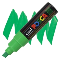 MARKER POSCA PC-8K BROAD CHISEL TIP FLUORESCENT GREEN PX107573000
