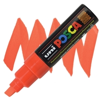 MARKER POSCA PC-8K BROAD CHISEL TIP FLUORESCENT ORANGE PX107565000