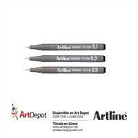 ARTLINE RAPIDOGRAPH SET 3 BLACK 135