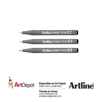 ARTLINE RAPIDOGRAPH SET 3 BLACK 248