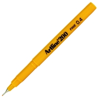 ARTLINE 200 FINE TIP PEN 0.4MM YELLOW 200AM