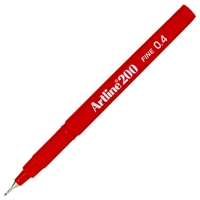 ARTLINE 200 FINE TIP PEN 0.4MM RED 200R