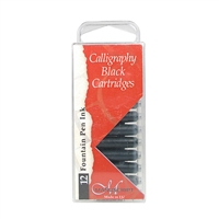 INK CARTRIDGES SET 12 BLACK MANUSCRIPT MUMC0461CBUS