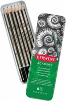 GRAPHITE DRAWING PENCIL SET TIN DERWENT- 6PC DE2301945