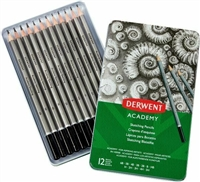 GRAPHITE DRAWING PENCIL SET TIN DERWENT- 12PC DE2301946