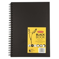 HARDBOUND SKETCHBOOK DERWENT - BLACK PAPER A4 8.27 X 11.69 IN 40SH DE2300379