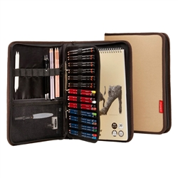 Derwent Carry All Artists/' A4 Folio Travel Case Holds 68 Pencils /& Accessories