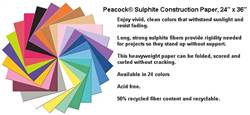 CONSTRUCTION PAPER SHEETS 24X36  PEACOCK P6524-5