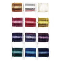 CRAFT WIRE PACK OF 12 - 26G ASSORTED COLORS 12X3YDS - DZ3958-93