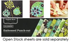 EMBOSSED PUNCH-OUT FLOWERS EACH SHEET65912