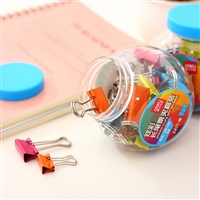 BINDER CLIPS 24 PCS JAR DELI 8560