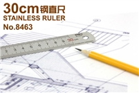 RULER STAINLESS STEEL 30CM HARDENED DELI 8463