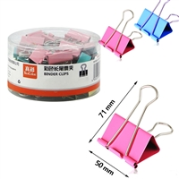 BINDER CLIPS 50mm BOX OF 12 DELI 8581