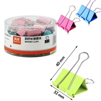 BINDER CLIPS 32mm BOX OF 20 DELI 8583