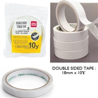 TAPE DOUBLE SIDED 18MM X 10Y DELI 30406