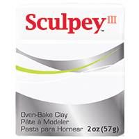 SCULPEY CLAY WHITE 2 OZ SY001