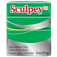 SCULPEY CLAY III EMERALD 2 OZ SY323