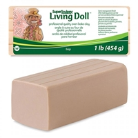 SUPER SCULPEY - LIVING DOLL CLAY BEIGE 1LB SYZSLD1