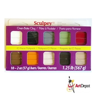 SCULPEY III CLAY - 10 COLOR MULTIPACK NATURALS SYMP300-1
