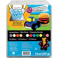 SCULPEY BAKE SHOP CLAY SET 12 COLOR VARIETY PACK SYBAVPPA