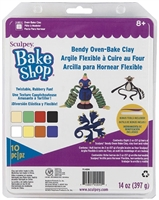 SCULPEY SUPER FLEX SAMPLER PACK 8 COLORS 2OZ BARS - SYFX4004