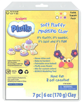 SCULPEY PLUFFY MULTIPACK 6 PASTEL COLORS 1onz BARS SYK34302