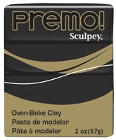 PREMO 2OZ BLACK - SCULPEY CLAY SYP5042