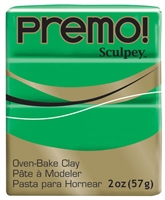 PREMO 2OZ GREEN - SCULPEY CLAY SYP5323