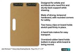 DRAWING BOARD 18 X 18 (Heavy) Drawing Clip 400411