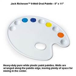 PALETTE 9 Well OVAL PLASTIC 101089
