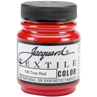 JACQUARD TEXTILE COLOR FABRIC PAINT 2.25OZ TRUE RED 106 - JAC1106