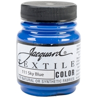 JACQUARD TEXTILE COLOR FABRIC PAINT 2.25OZ SKY BLUE 111 - JAC1111