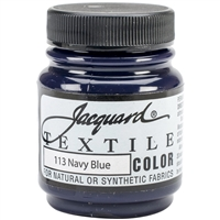 JACQUARD TEXTILE COLOR FABRIC PAINT 2.25OZ NAVY BLUE 113- JAC1113
